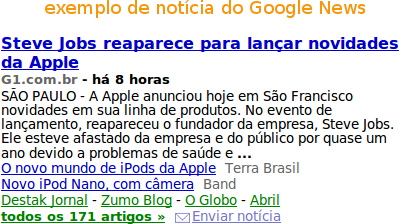Google News e seus 1758695 links