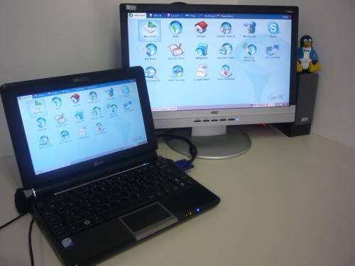 eeePC e um monitor AOC