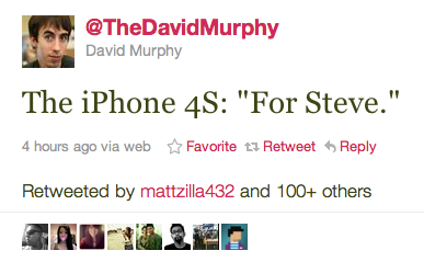 iPhone4S = For Steve