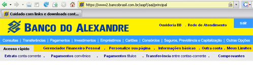 [Banco do Alexandre - BB]