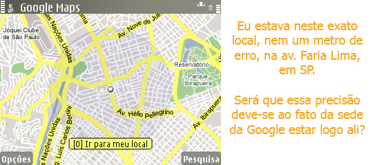 Google Maps Mobile em SP