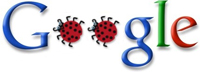 [Google bug, logo modificado via Engadget]