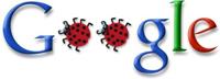 [Google bug, logo modificado via Engadget]
