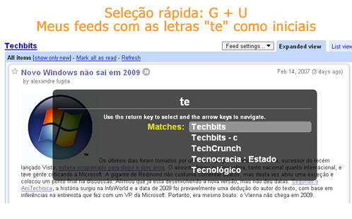 [Dica Google Reader]