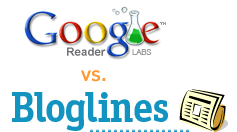[Google Reader vs. Bloglines]