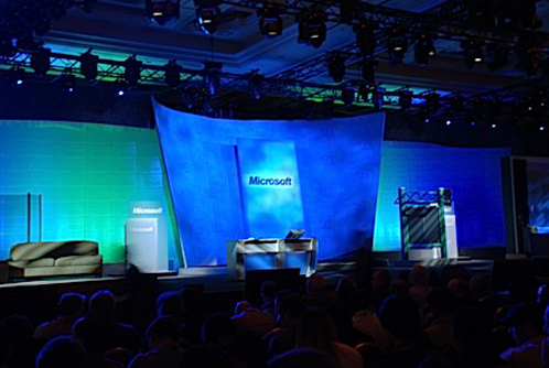 [Keynote Bill Gates CES 2007, palco, foto via Engadget]