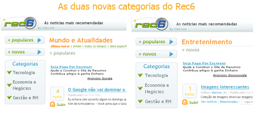[Novas categorias do Rec6]