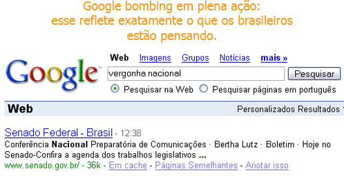 [Google Bombing: malditos senadores!]