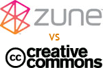 [Zune vs Creative Commons]