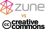 [Zune vs Creative Commons]