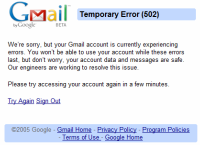 Gmail fora do ar